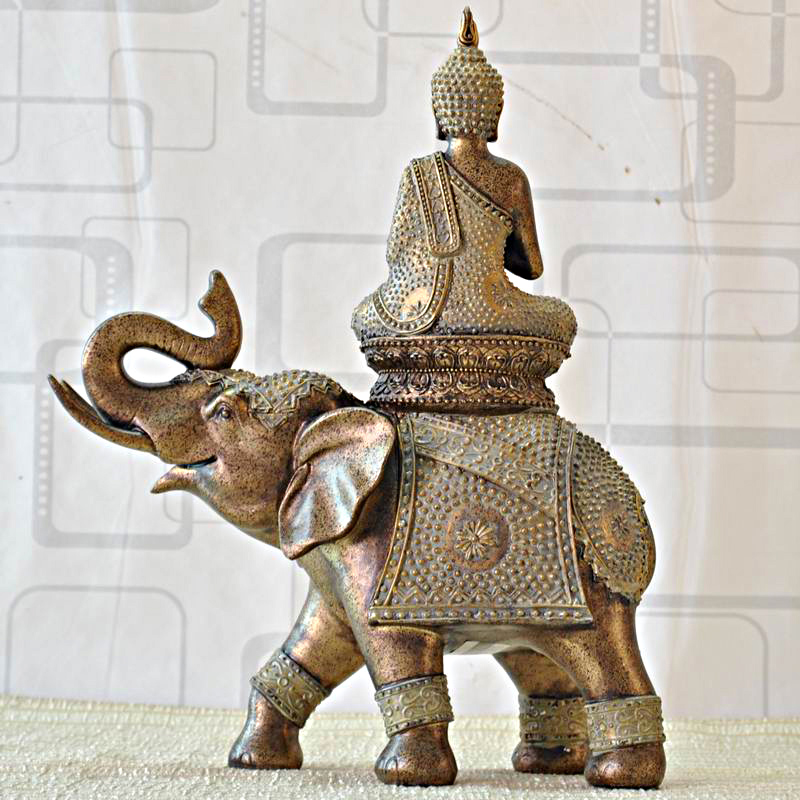 东南亚风格佛像摆饰树脂工艺品摆设客厅招财家居装饰品大象摆件